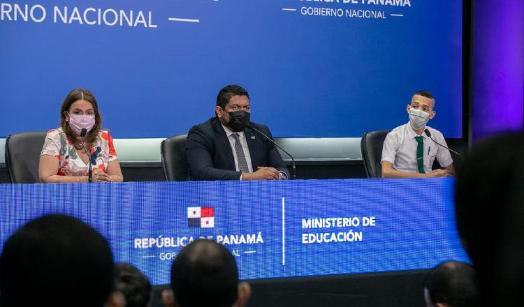 El anuncio de las mejoras realizadas al plan educativo se realizó el pasado lunes, primer día de clases de este año lectivo. Foto de cortesía