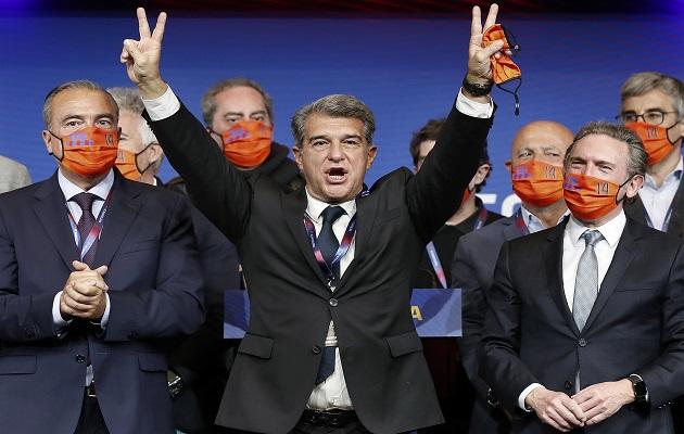 Laporta vuelve a la presidencia 10 años después.