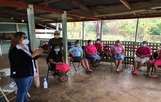 Las mujeres manifestaron su preocupación por la baja que se ha dado en la pesca de Tilapia, una de las principales especies en esta zona.