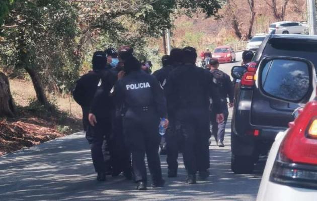Una de las personas que iba con Cortizo Cohen pidió ayuda y la policía llegó rápidamente.