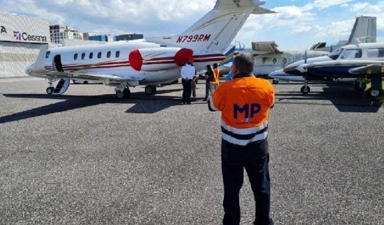 Aeronave propiedad de la familia Martinelli que se encuentra retenido ilegalmente en la República de Guatemala. Archivo