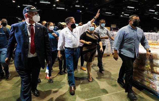 El presidente Laurentino Cortizo también bailó.