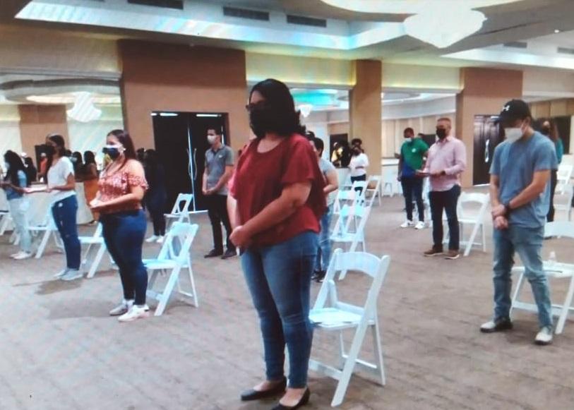 Los asistentes cumplieron con todas las medidas de bioseguridad. Foto: Thays Domínguez