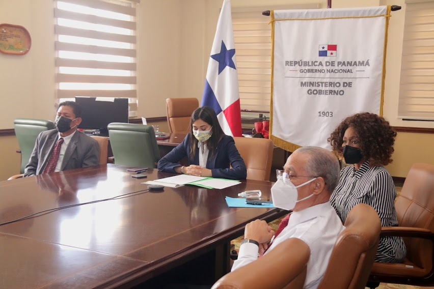La ministra de Gobierno, Janaina Tewaney Mencomo, presentó el proyecto de ley.
