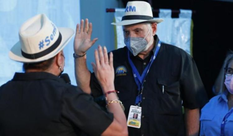 El expresidente Ricardo Martinelli, dijo que gobernará para el pueblo. Cortesía.