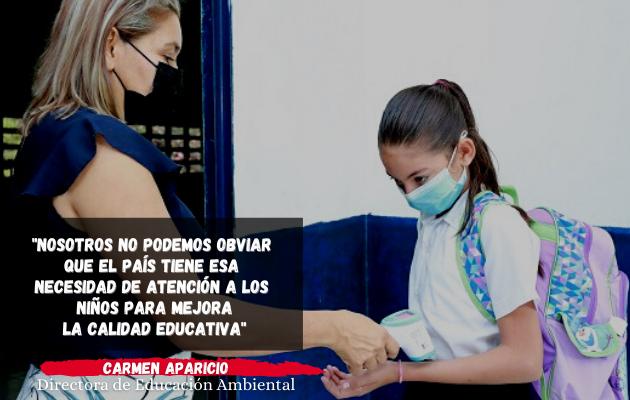 Retorno a las aulas es un trabajo entre Meduca y el Minsa, afirma directora de Educación Ambiental. Foto:Cortesía