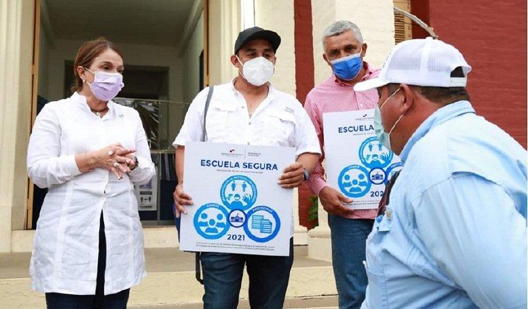 Escuelas en la provincia de Los Santos, como la Belisario Porras, en Las Tablas, ya han sido certificadas como seguras para ser ocupadas. Foto de cortesía