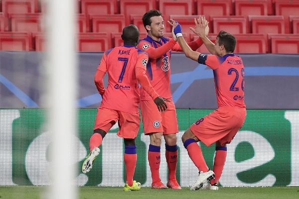 El Chelsea dejó encarrilada la eliminatoria en el minuto 85 con un gol del lateral izquierdo inglés Chilwell. Foto: Twitter