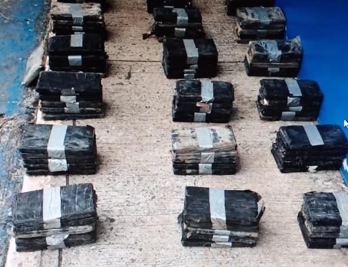 Se encontraron 136 paquetes de presunta droga. Foto: Eric A. Montenegro