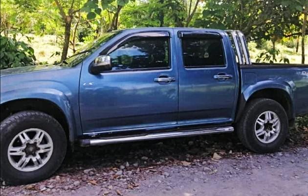 El automóvil de la víctima fue ubicado en la comunidad de Los Morantes, en territorio de Costa Rica. Foto: Mayra Madrid