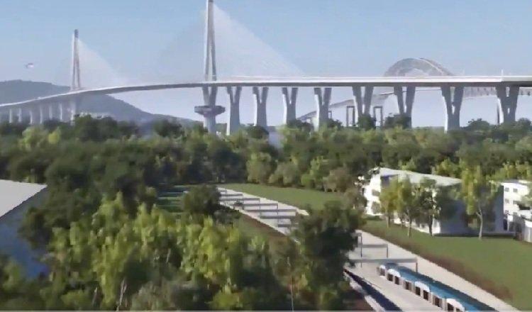 Perspectiva de uno de los accesos al túnel, en paralelo al cuarto puente, del cual todavía se desconoce cuándo iniciará su construcción. Foto: Internet