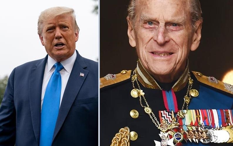 Donald Trump y el príncipe Felipe. EFE