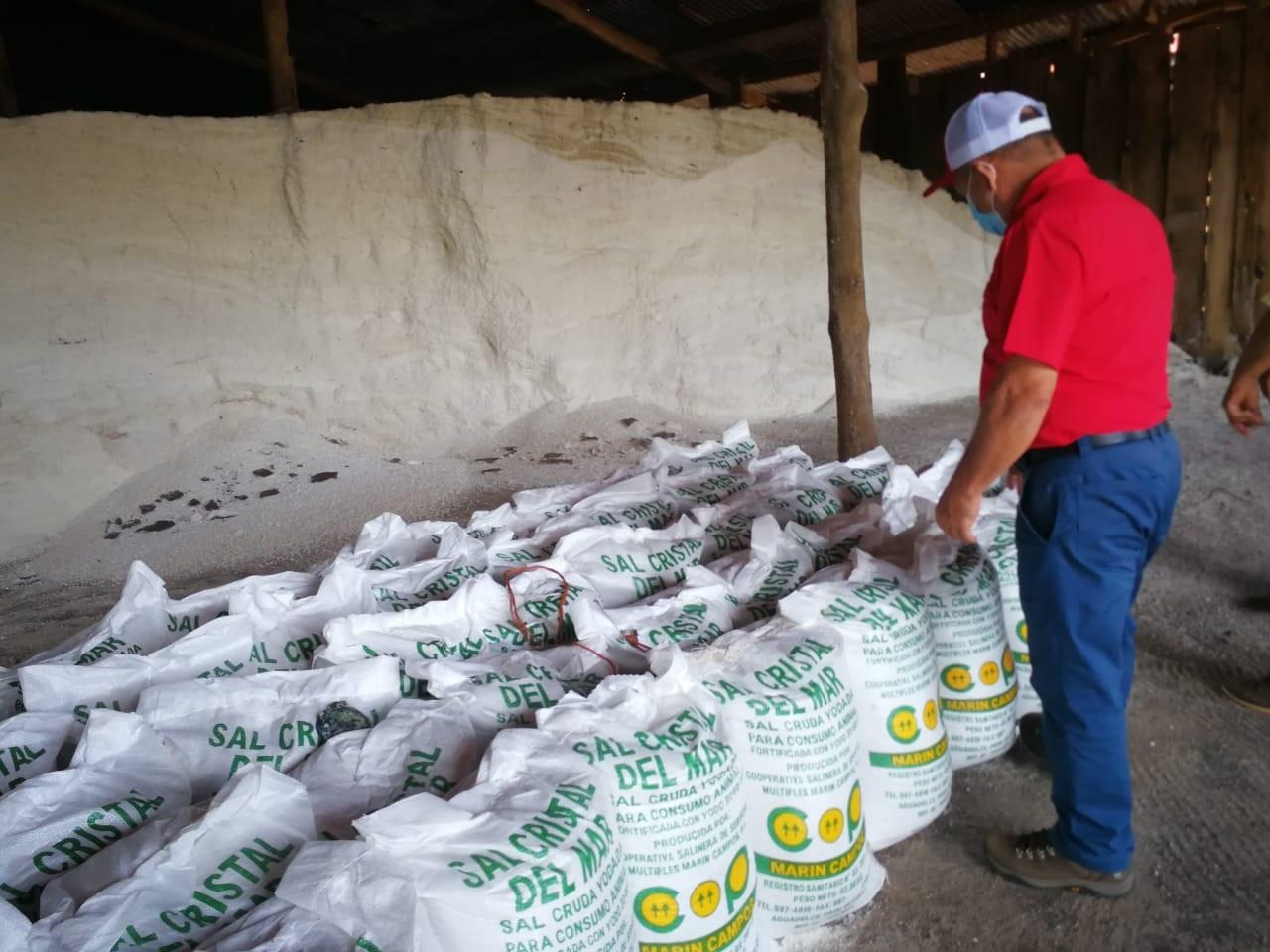 Los primeros quintales de sal cruda serán distribuidos a los ganaderos del país. Foto: Eric A. Montenegro