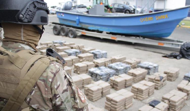 La mayoría de las incautaciones de drogas se hicieron en medios de transporte marítimos.