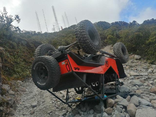 El vuelco se registró a la altura de Loma Zuto, próximo a la cima del volcán Barú. Foto: Mayra Madrid