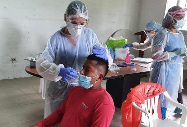 Personal de salud aplicó 9,059 pruebas nuevas de contagio en las últimas 24 horas en Panamá. Foto: Cortesía Minsa
