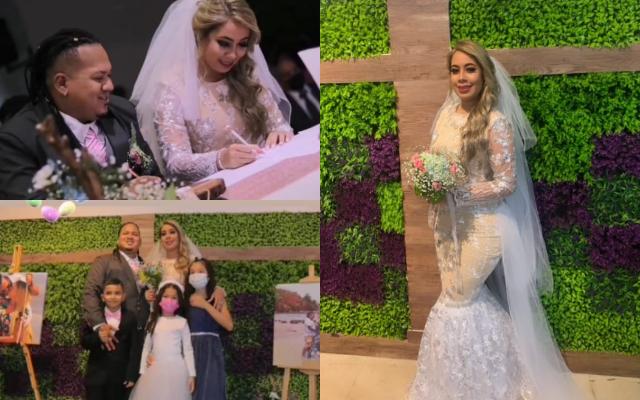 Imágenes del matrimonio de Mario Iván y Anyuri Martínez. Fotos: Instagram