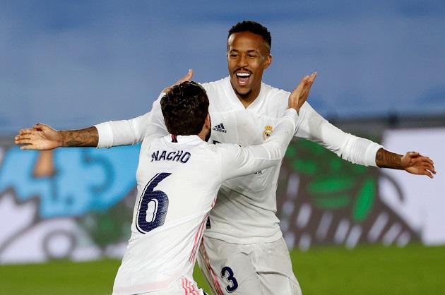 Éder Militao marcó el primero gol del Real Madrid. Foto: EFE
