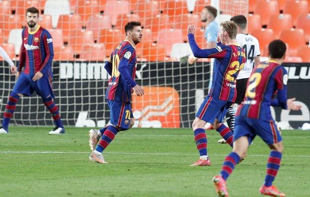 Leo Messi impulsó el triunfo del Barcelona. Foto: EFE