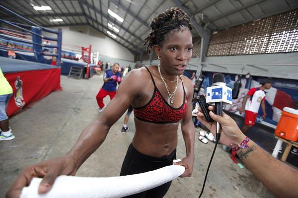 Imagen de archivo de la imagen la boxeadora olímpica panameña, Atheyna Bylon.
