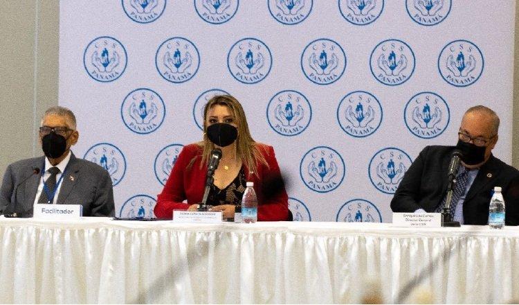 Con la presentación de la ministra de Trabajo, concluyeron las exposiciones de entidades del Estado en el diálogo por la CSS. Foto: Cortesía Mitradel