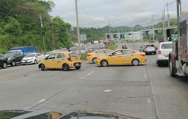 Al menos unas 12 detenciones de taxistas se han dado hasta ahora. Foto: @TraficoCPanama