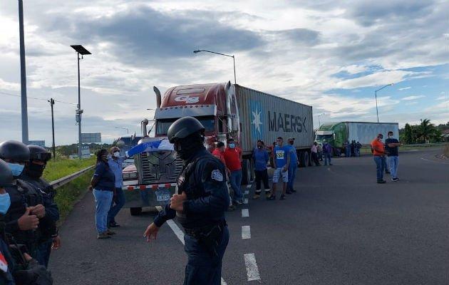 Camioneros panameños han protestado en varias ocasiones por la discriminación.