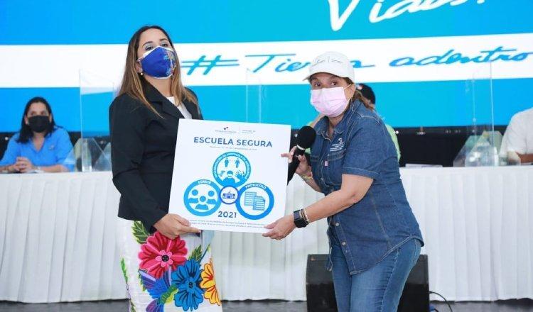 El pasado 17 de abril, la escuela de Rincón Largo recibió el aval para recibir a estudiantes, Es la única a la fecha, en Chiriquí y Veraguas. Foto: Cortesía Meduca