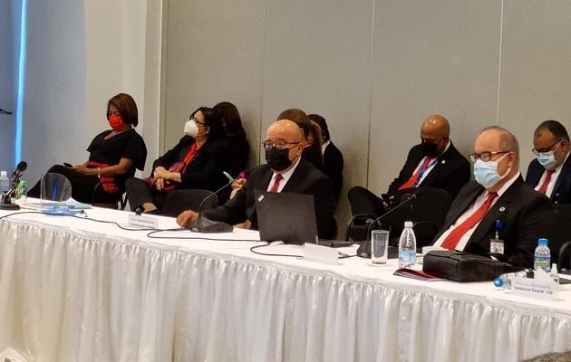 Este jueves siguió la presentación  del diagnóstico situacional de la CSS ante la mesa plenaria del Diálogo Nacional. Foto: Cortesía CSS