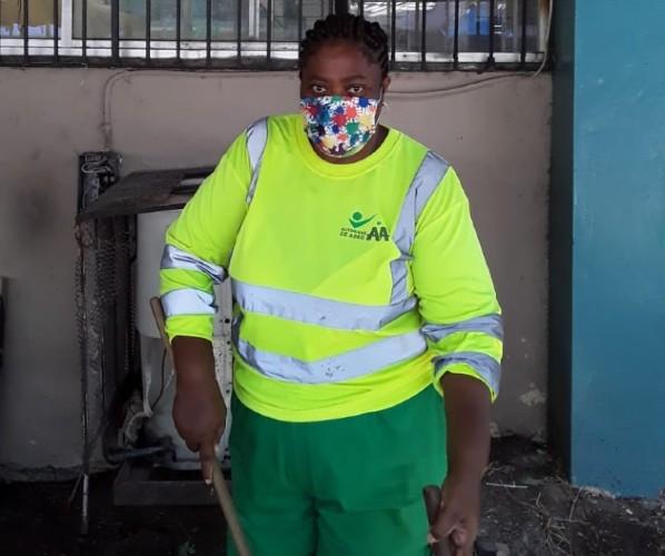 Kiria anhela que el trabajo de aseo sea valorado. (Foto: Cortesía)
