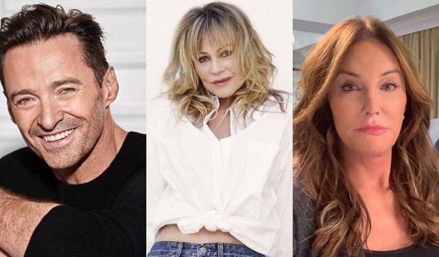 Hugh Jackman, Melanie Griffith y Caitlyn Jenner. Fotos: Instagram