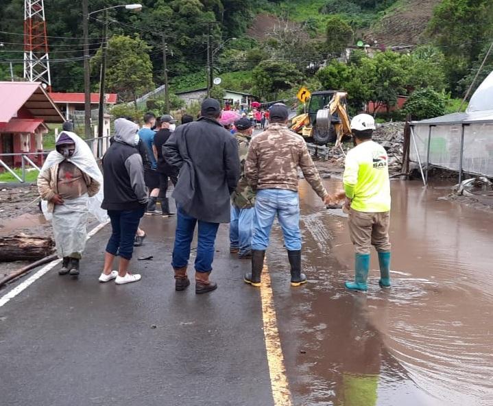 El Sistema Nacional de Protección Civil evalúa las afectaciones causadas. Foto: Mayra Madrid