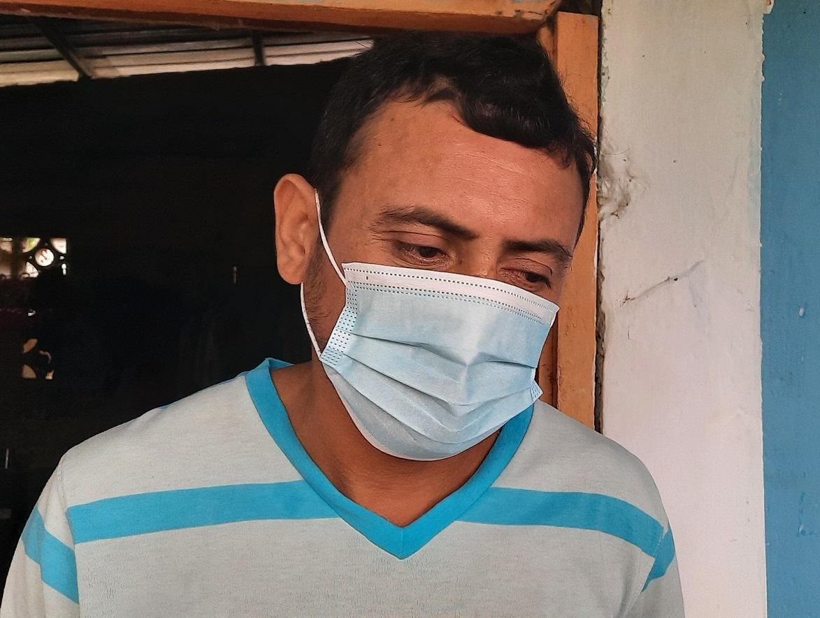 José Manuel Díaz Bultrón solicita ayuda a los panameños. Foto: Melquiades Vásquez