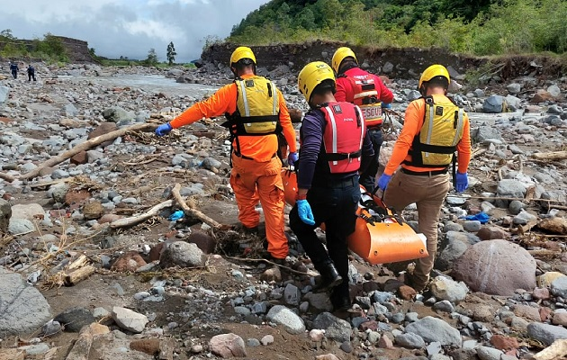 El cuerpo fue ubicado en el sector de Los Cantares, en Paso Ancho de Volcán. Foto: Mayra Madrid