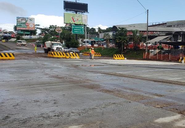 Tramo de la vía reparado. Foto: MOP