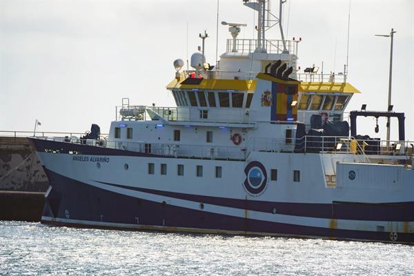 El buque oceanográfico Ángeles Alvariño regresa al Puerto de Santa Cruz de Tenerife por cuestiones técnicas este sábado.  Foto: EFE