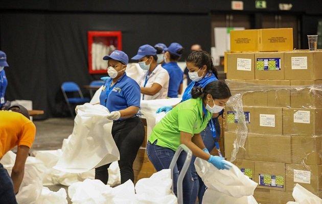 Ministerio Público investiga decomiso de bolsa de alimento del programa Panamá Solidario en residencia en San Francisco. Foto: Archivos