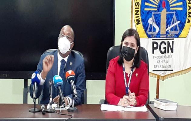 El Ministerio Público efectuó una conferencia de prensa para explicar avances en investigación de vacunación clandestina. Foto: Víctor Arosemena