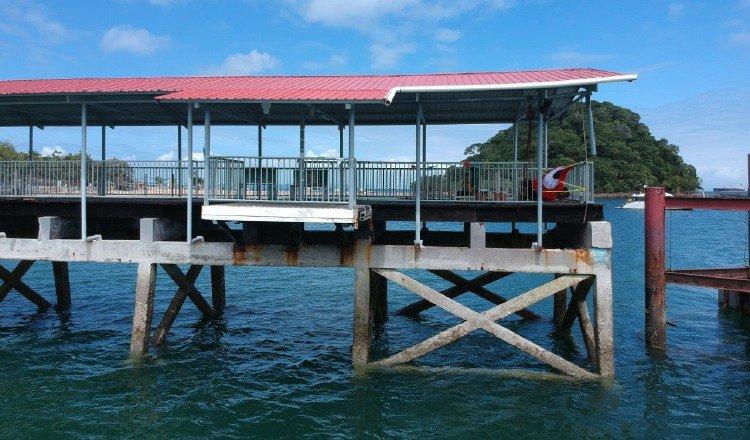 Muelle de la isla de Taboga.