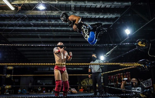El Global Wrestling Evolution (GWE) ya volvió a sus actividades con una capacidad del 50%. Foto / cortesía de GWE.