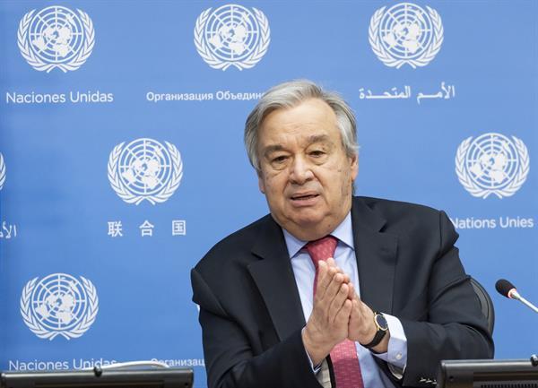 António Guterres, secretario general de la Organización de Naciones Unidas (ONU). EFE