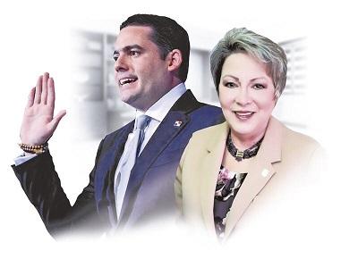 El vicepresidente José Gabriel Carrizo y la magistrada Maria Eugenia López.