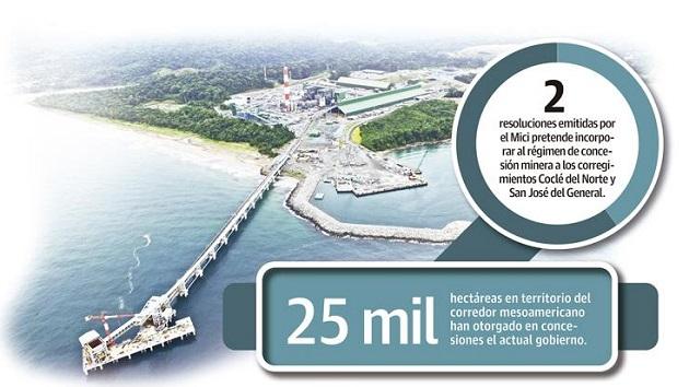 Los panameños también sostienen que no existe transparencia en las concesiones mineras otorgadas por el Gobierno.