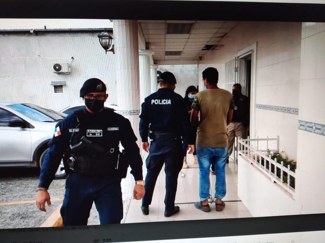 El padre de la niña fue llevado este miércoles al Sistema Penal Acusatorio (SPA) en Santiago, Veraguas. Foto: Melquiades Vásquez