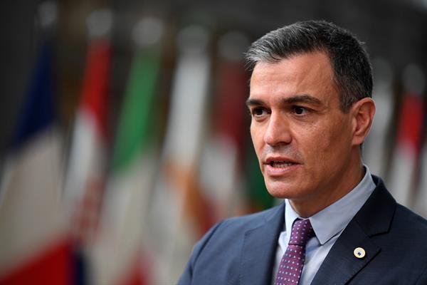 El presidente del Gobierno, Pedro Sánchez, este jueves en Bruselas. Foto: EFE