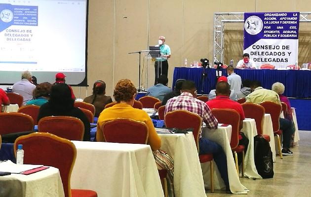 Gremios de trabajadores se levantan de la mesa del Diálogo Nacional por la Caja de Seguro Social (CSS). Foto: Cortesía Conato