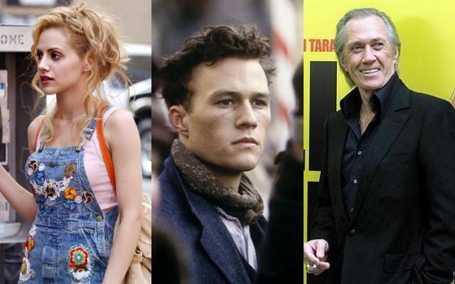 Brittany Murphy, Heath Ledger y David Carradine. Fotos: Instagram