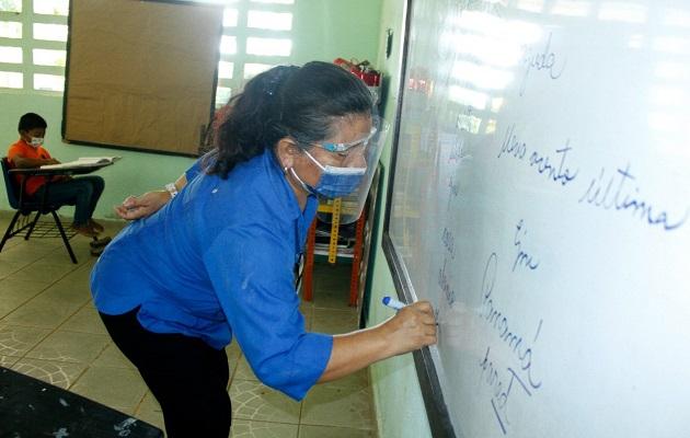 Las clases semipresenciales se imparten en escuelas multigrado y con bajo número de casos de covid-19. Foto: Cortesía Meduca