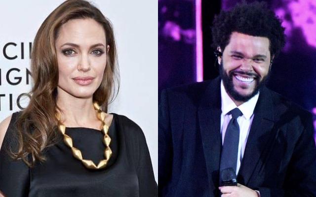 Angelina Jolie y The Weeknd. Fotos: Instagram
