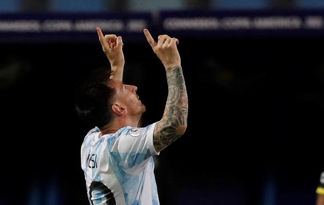 Messi marcó uno de los goles de Argentina. Foto. EFE